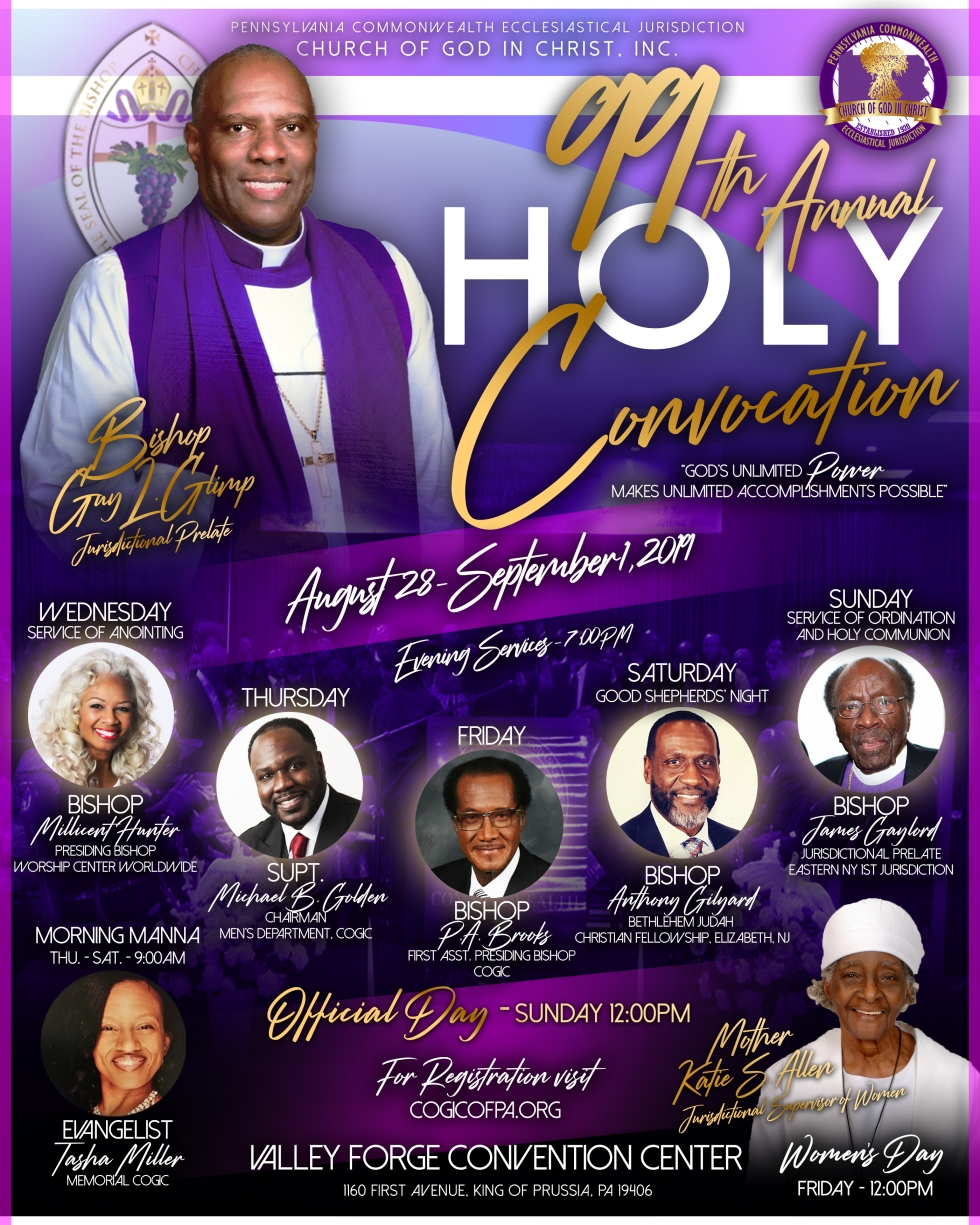 Cogic Holy Convocation 2019 Dates