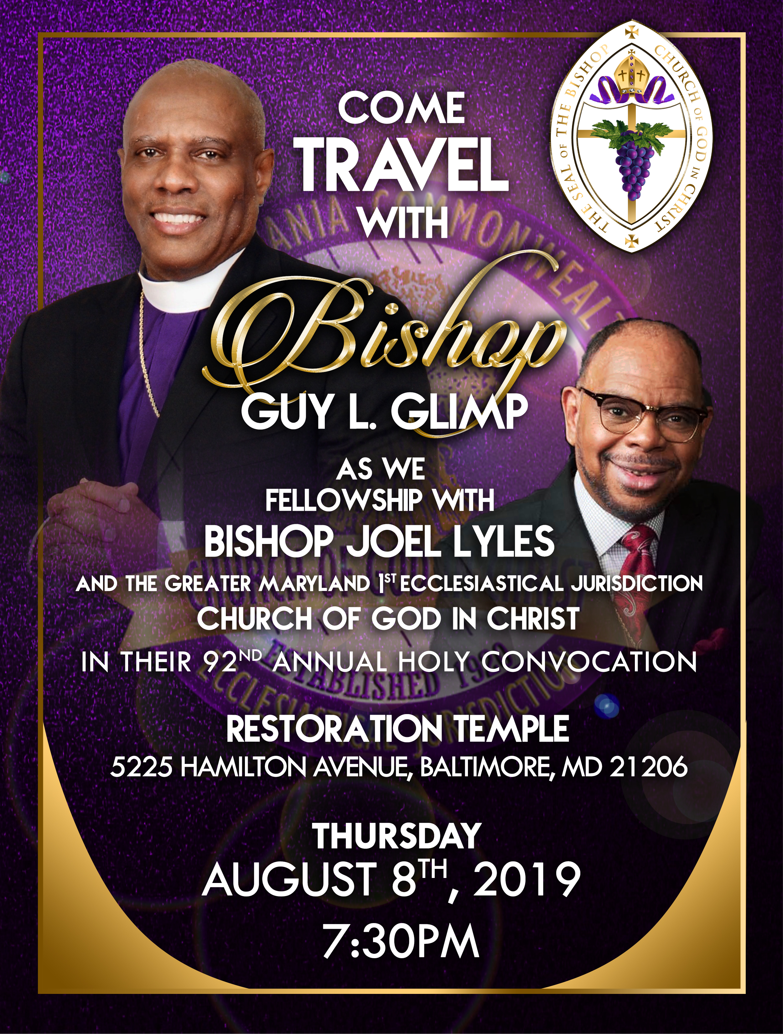 come travel with the bishop - Lyles